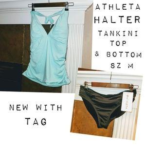 Athleta Shirrendipity Tankini Top & Swim Bottom